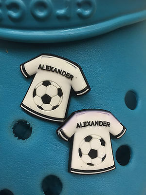 2 Boys Names Shoe Charms For Crocs & Jibbtz Wristbands. Lots To Choose From.