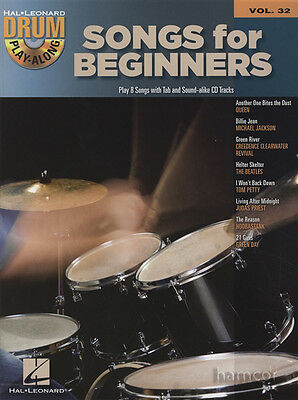 Songs for Beginners Drum Play-Along Volume 32 Music Book & Backing Tracks CD