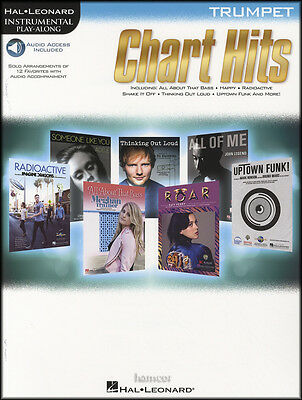 Chart Hits for Trumpet Instrumental Play-Along Sheet Music Book/DLC