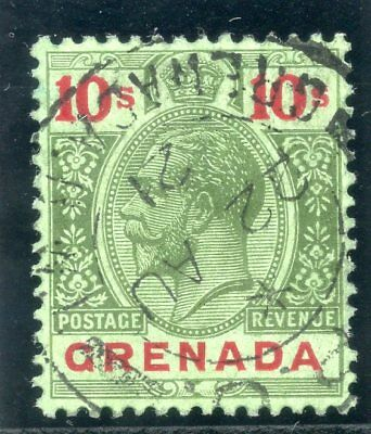 c89be87f34e92f Grenada 1922 KGV 10s green   red green (emerald back) very fine used