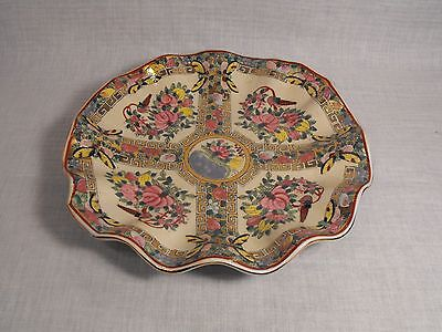Vintage Chinese Famille Rose Pattern  Pink Flowers Porcelain Decorator  Bowl