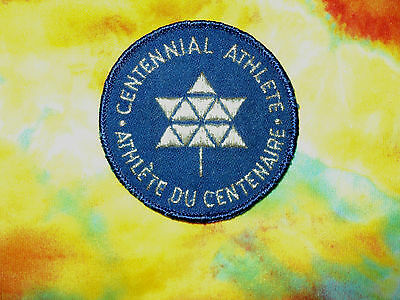 Canada 100th 1967 Centennial NEW Athlete Silver Embroidered Patch