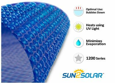 12 Mil Heavy Clear Round, Oval & Rectangle Swimming Pool Solar Blanket Covers