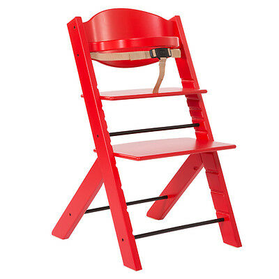 Trona de madera Treppy Highchair Red 1007