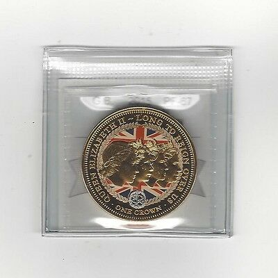 **2015**Great Britain, Crown, QEII Long To Reign, Coin Mart  Graded**PF-67**