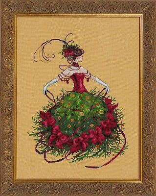 Mirabilia Designs - Miss Christmas Eve Cross Stitch Chart Pack (Md148)