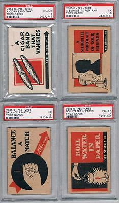 1930 O-Pee-Chee Trick Cards V305 Trading Cards Lot of 25 PSA Graded
