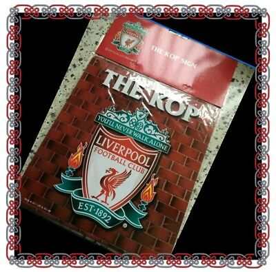 Liverpool Official The Kop - Metal Sign- Club Crest - Great Gift Idea