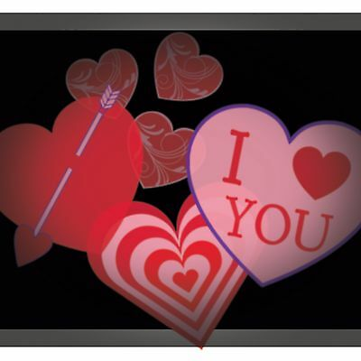 Valentine Hearts LED Projector Shine Spinning Valentines on your wall or ceiling