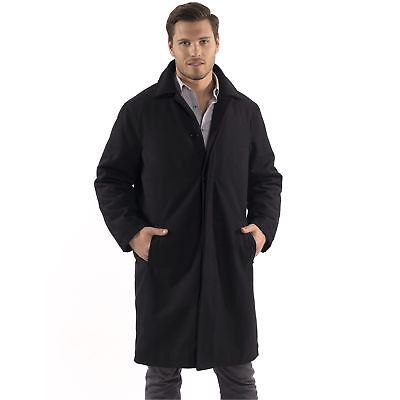 Alpine Swiss Men's Zach Knee Length Jacket Top Coat Trench Wool Blend Overcoat