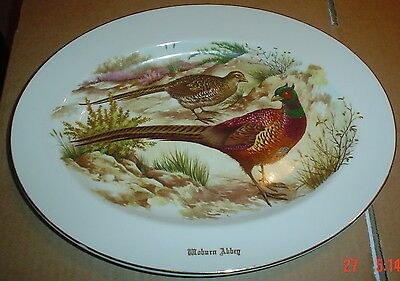 Liverpool Road Pottery Ltd Oval Pheasant Plate WOBURN ABBEY