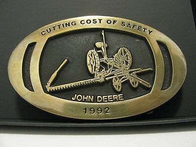 John Deere Horse Drawn Mower 1992 Minneapolis Employee Safety Award Belt Buckle