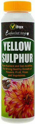 Vitax Yellow Sulphur 225g Pack Treats Powdery Mildew On Fruit & Vegetables