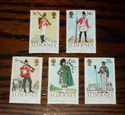 Alderney Mint Stamps Regiments Of The Garrison 1985