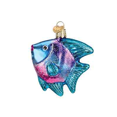 """Tropical Angelfish"" (Style#1) (12383) Old World Christmas Glass Ornament"