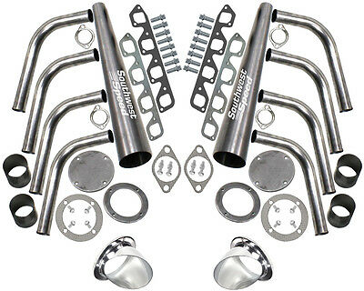 Patriot Exhaust H1146 4 Lakester Exhaust Header Turnout Kit