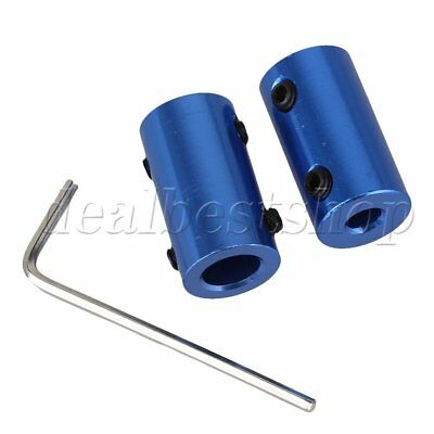 2pcs 5mm-8mm Aluminum Alloy Shaft Robot Rigid Copper Motor Coupling Coupler Blue