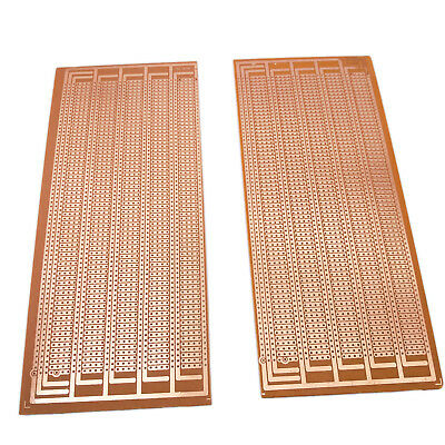 US Stock 2pcs Prototype PCB Universal Bread Board 8.5x20cm Sigle Side Copper