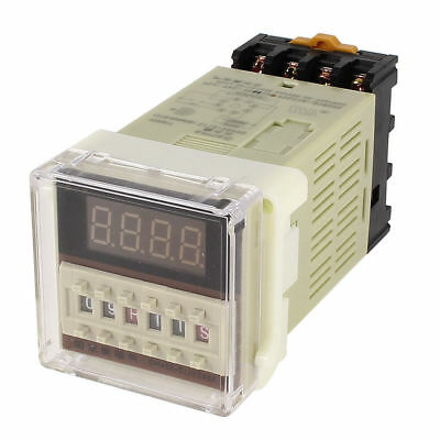 US Stock DC 12V Digital Precision Programmable Time Delay Relay DH48S-S & Base