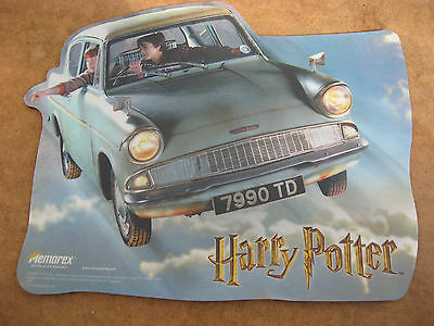 """Harry Potter+Ron Weasley+Car """"chamber Of Secrets"""" Mouse Mat Mousemat Unused."""