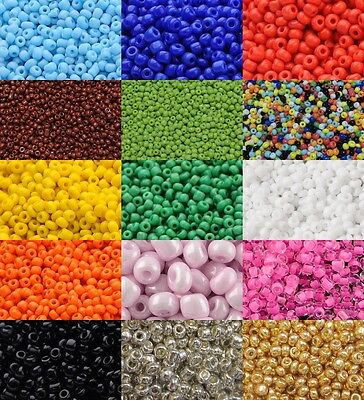 Glass Seed Beads Black Opaque Size 10//0 2mm bag of 40gm approx 3000 beads