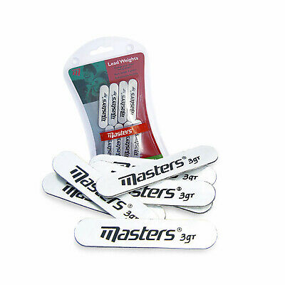 Masters Lead Weight Stick On Strips 8 Pack - New Golf Club Head Irons Putter
