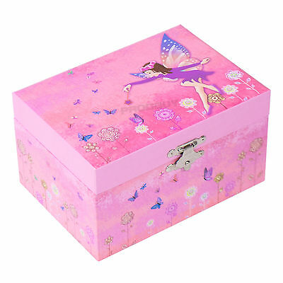 Mele Pink Fairy Musical Jewellery Box Childrens Organiser Case Gifts For Girls