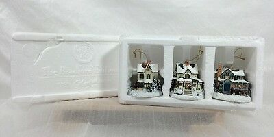 Thomas Kinkade 2000 Winter Memories Ornaments #4 SET 3 Pc Bradford NIB!