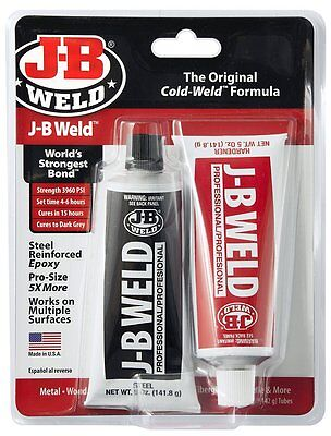 JB Weld 8281 Professional Size Steel Reinforced Epoxy Twin Pack - 10 oz