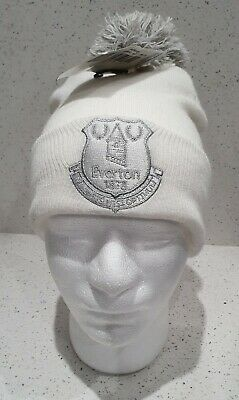 Everton FC Official White and Grey Baby Bobble Hat One Size - Great Gift Idea