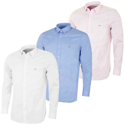 Lacoste 2017 Mens CH5888 Long Sleeved City Slim Fit Poplin Button Down Shirt