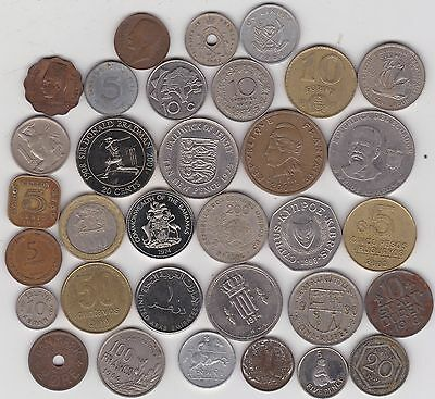 33 Mixed World Coins In Very Fine Or Better Condition