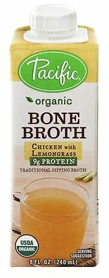 Pacific Natural Foods Organic Bone Broth Chicken with Lemongrass - 8 oz