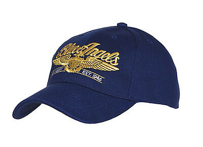 US Army Blue Angels USAAF Baseball Cap Airforce Pilot Wings Insignia WK2 WW2