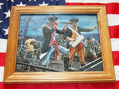 Framed American Revolution Painting. Mort Kunstler, Digging Trenches at Yorktown