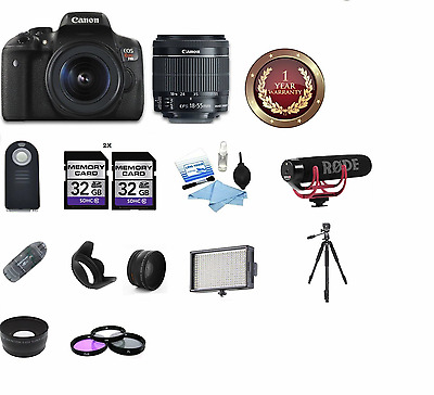 CANON EOS REBEL T6i Video Creator Kit 18-55mm +Lens Rode + Limited  Accessories