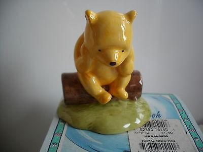 Royal Doulton Disney Winnie The Pooh  Under The Name Mr Saunders  Boxed English