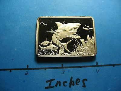 Great White Shark American Wildlife Collection 999 Silver Gold Bar 250 Minted