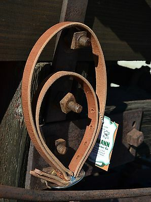Hermann Oak Harness Leather Cowboy Saddle Night Latch Stainless Buckle