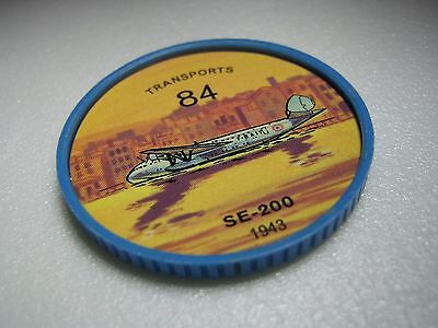 Vintage 1960s Jell-O/Hostess Airplane Coin #84 - Transports - SE 200- 1943