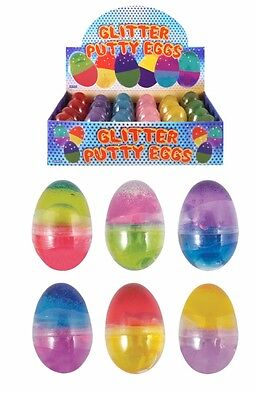 Glitter Egg Noise Putty Fart Joke Kids Prank Party Bag Filler Pocket Money Toy