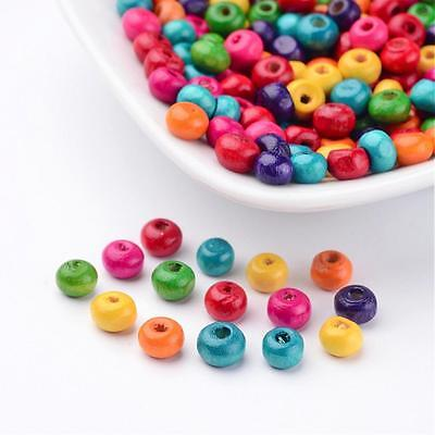 200 x Assorted Wooden Abacus Beads Lead Free