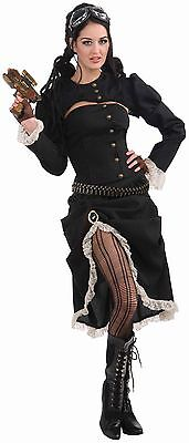 Steampunk Renegade Jacket w/Corset Costume Adult Standard