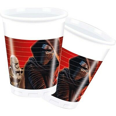200ml Star Wars 7 Plastic Cups, Pack Of 8