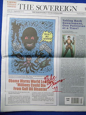 Mike Diana ~ The Sovereign ~2010~ Obama Art By Diana ~Signed!~ Warning:explicit!