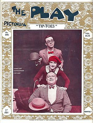 """George Gershwin """"TIP-TOES"""" Dorothy Dickson 1926 London """"PLAY"""" Pictorial Magazine"""