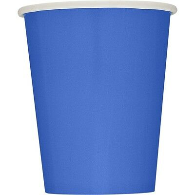 9oz Royal Blue Paper Cups, Pack Of 14