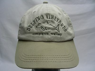 Delfino Vineyards - Umpqua Valley - Adjustable Strapback Ball Cap Hat!