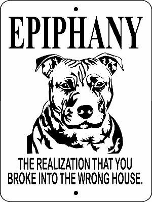 "PIT BULL DOG SIGN,PITBULL,GUARD DOG SIGN,9""x12"" ALUMINUM SIGN,SECURITY, EPPB1"