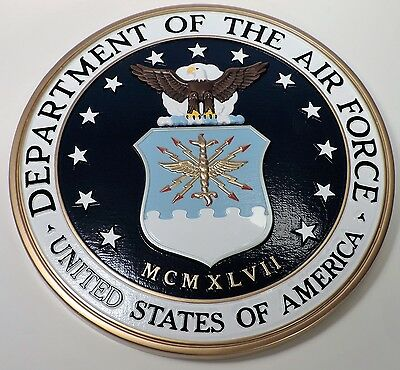 """14.5"""" Dondero United States Air Force Seal Wall Plaque  Mint"""